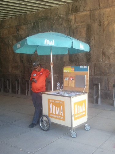 NoMA business improvement district visitor information cart
