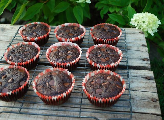 Healthier Chocolate Zucchini Muffins 2