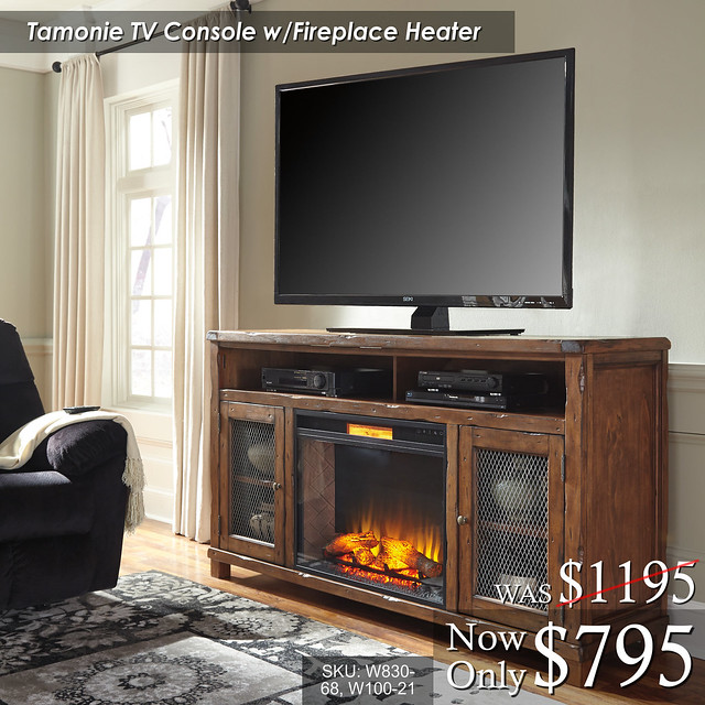 Tamonie TV Console wFire W830-68-W100-21
