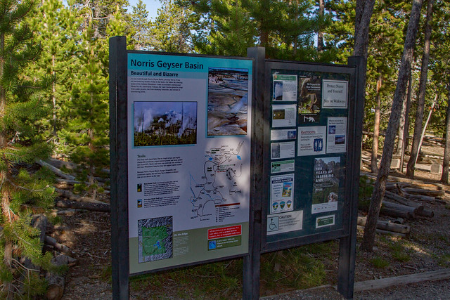Norris Geyser Basin Sign