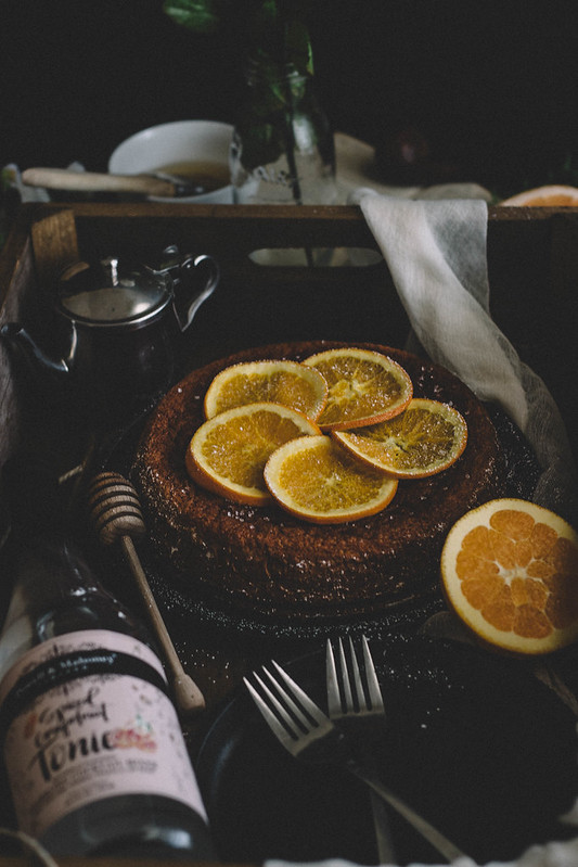 Spiced Grapefruit Sponge Cake with Candied Orange Slices || TermiNatetor Kitchen