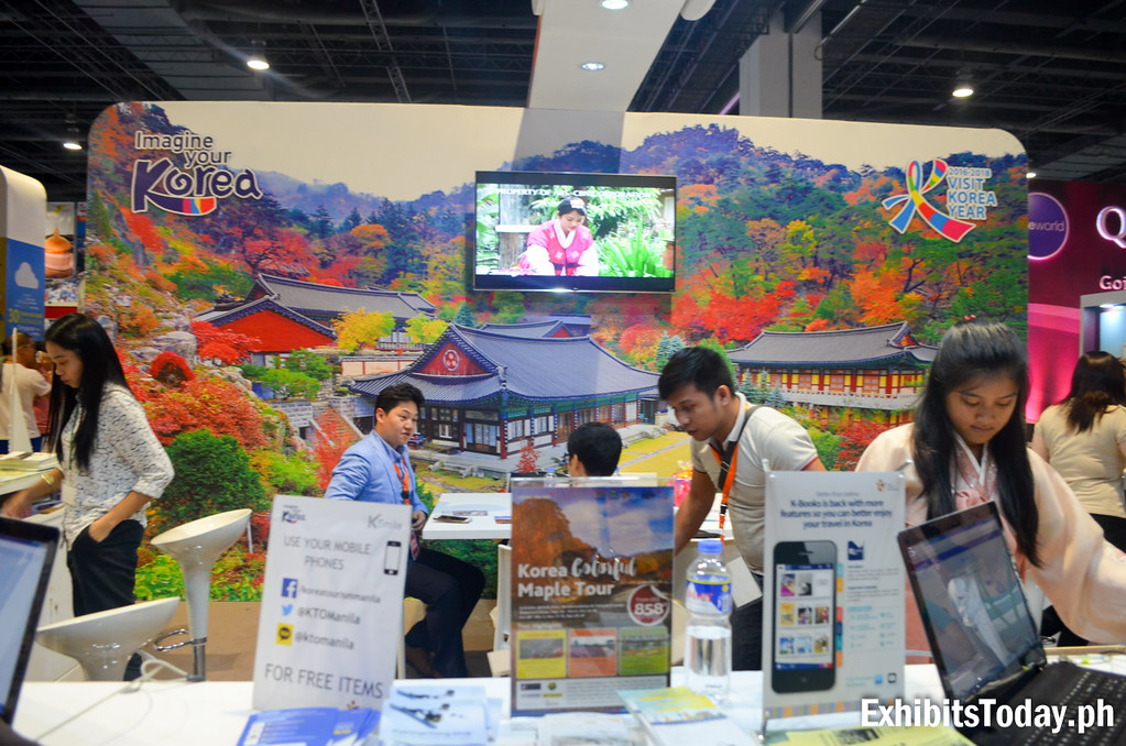 Korea Tourism Organization Trade Show Display (front desk)