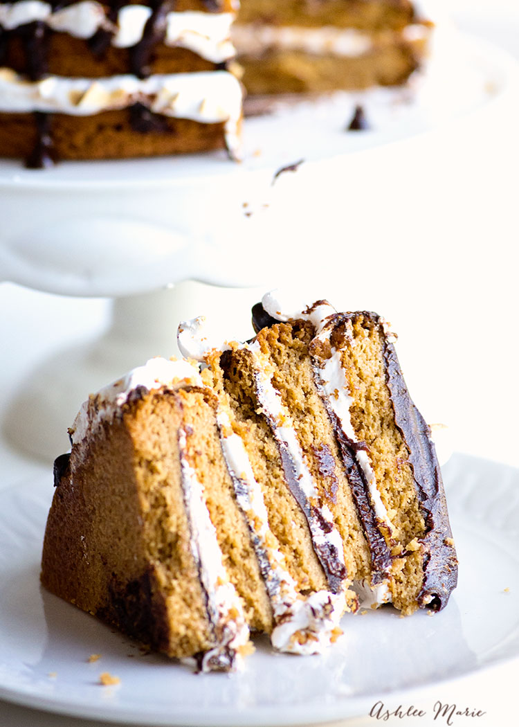I adore cookie cakes - this one is layers of the perfect peanut butter cookies, chocolate ganache, homemade marshmallow fluff and toasted!