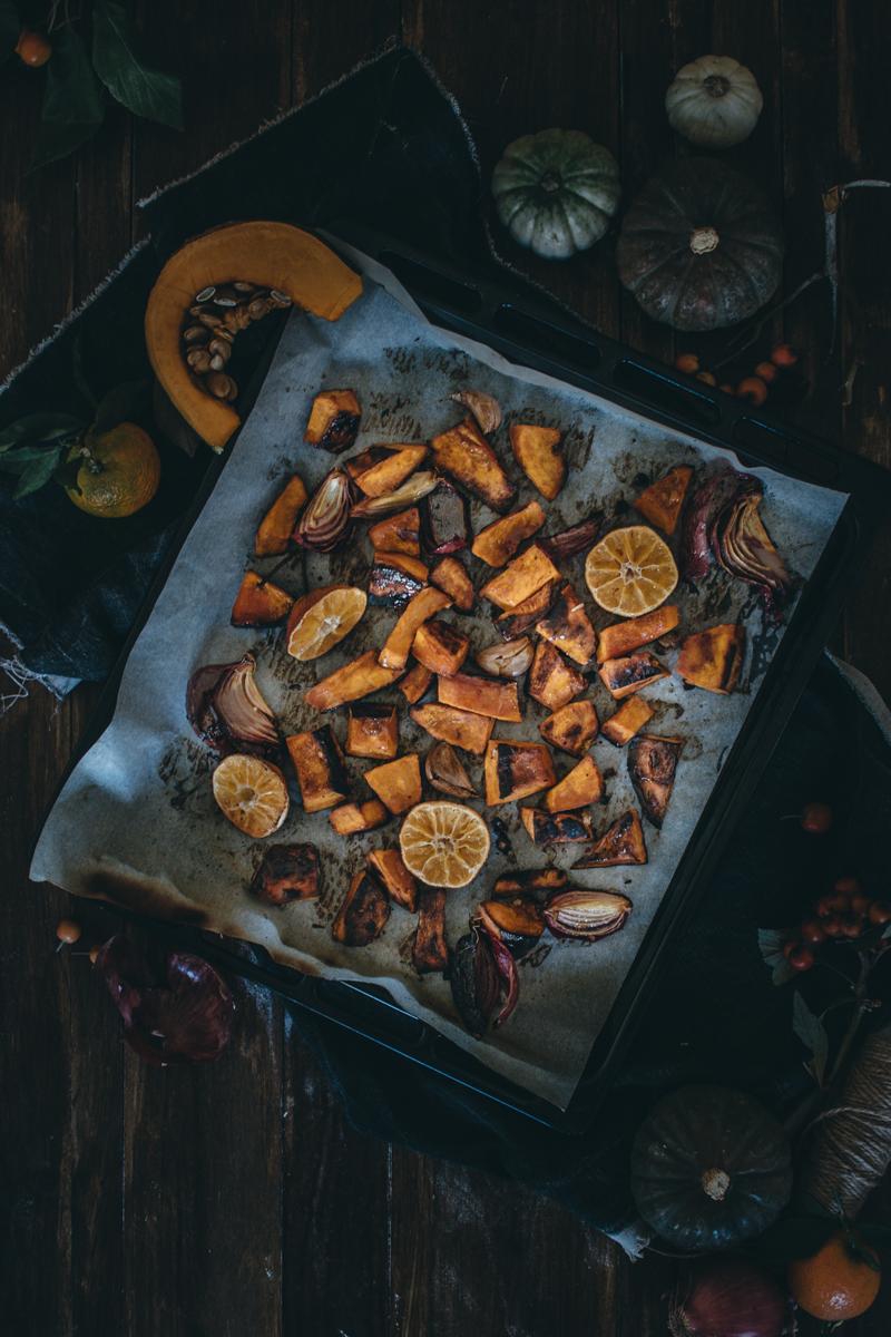 Saffron Pumpkin Pasta Bake for Virtual Pumpkin Party | Pasta al Forno con la Zucca | Lab Noon by Saghar Setareh-9