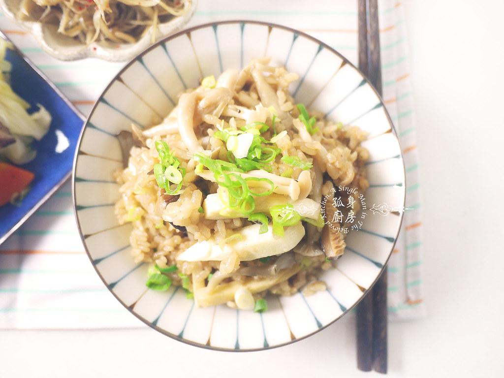 孤身廚房-日式綜合菇炊飯佐牛蒡絲5