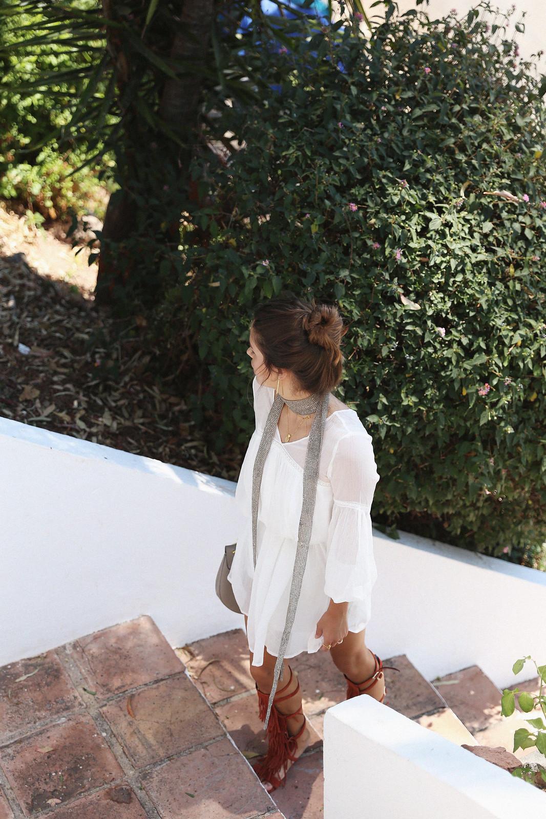 Jessie Chanes Seams for a desire Short White Dress-11