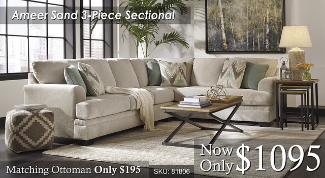 Ameer 3 Piece Sectional