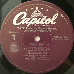 MAZE FEATURING FRANKIE BEVERLY:LIVE IN NEW ORLEANS(LABEL SIDE-A)
