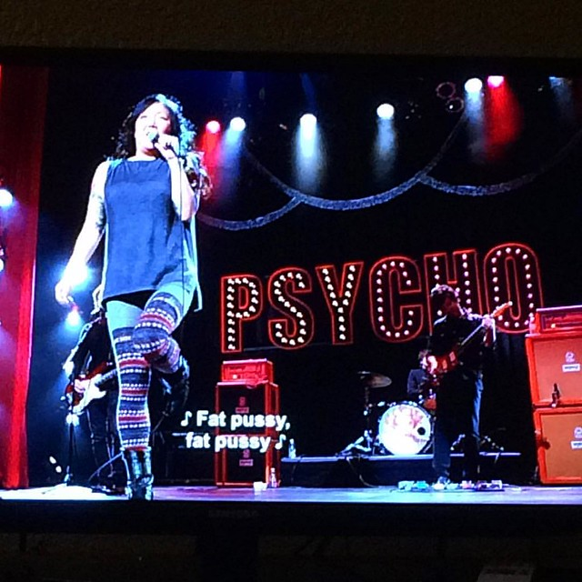 "Tonight we watched ""psyCHO"". Oh Margaret Cho! I love youuuu! 😻"