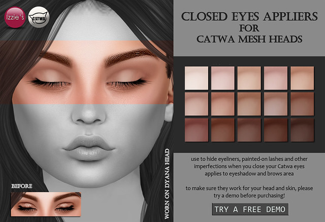 Closed Eyes Appliers (Catwa)