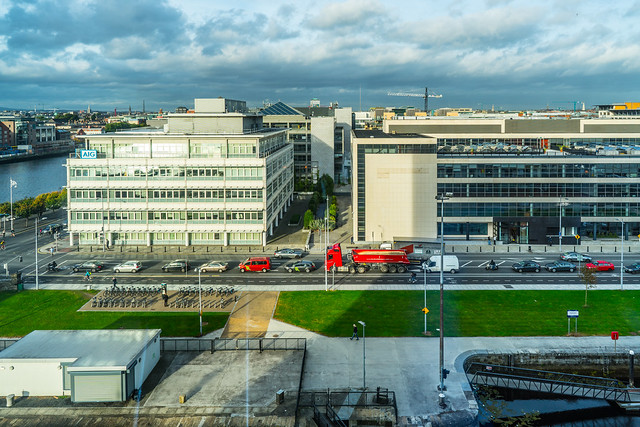 A VIEW OF DUBLIN FROM THE CONVENTION CENTRE DUBLIN [GUILD STREET IS WHAT YOU SEE]-121641