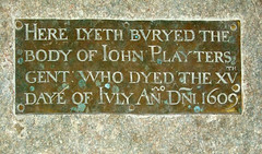 Here lyeth buryed the body of John Playters