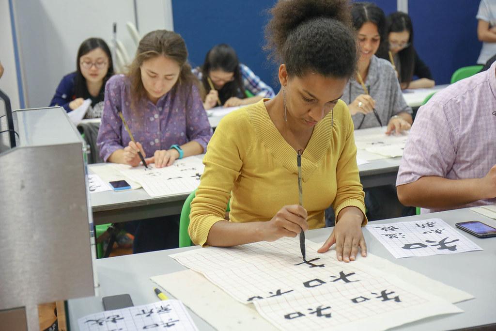 Calligraphy is an art for everyone. / 書法是一種老幼咸宜的藝術。