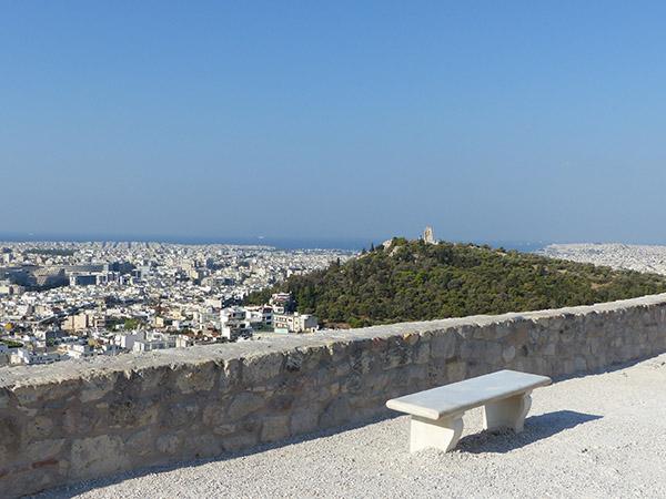 vue de l'acropole, la ville et la mer
