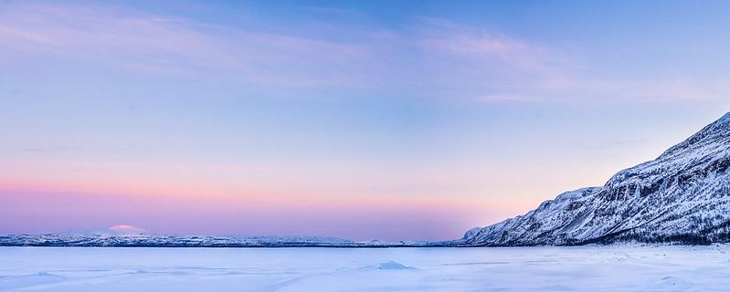 [Panorámica] Fiordo Porsangen: El mar congelado