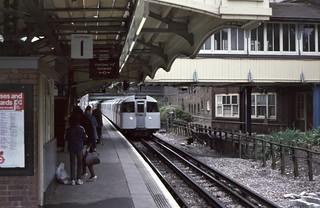 Hendon Central Underground Station, 1984
