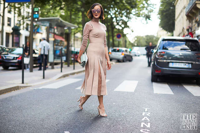 Street style fashion at Paris haute Couture Fashion week