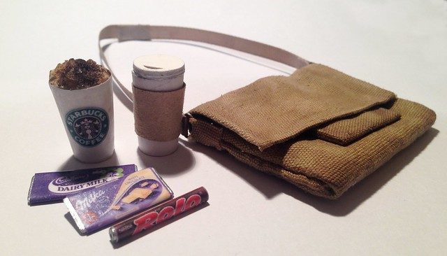 1/6th scale messenger bag and accessories.