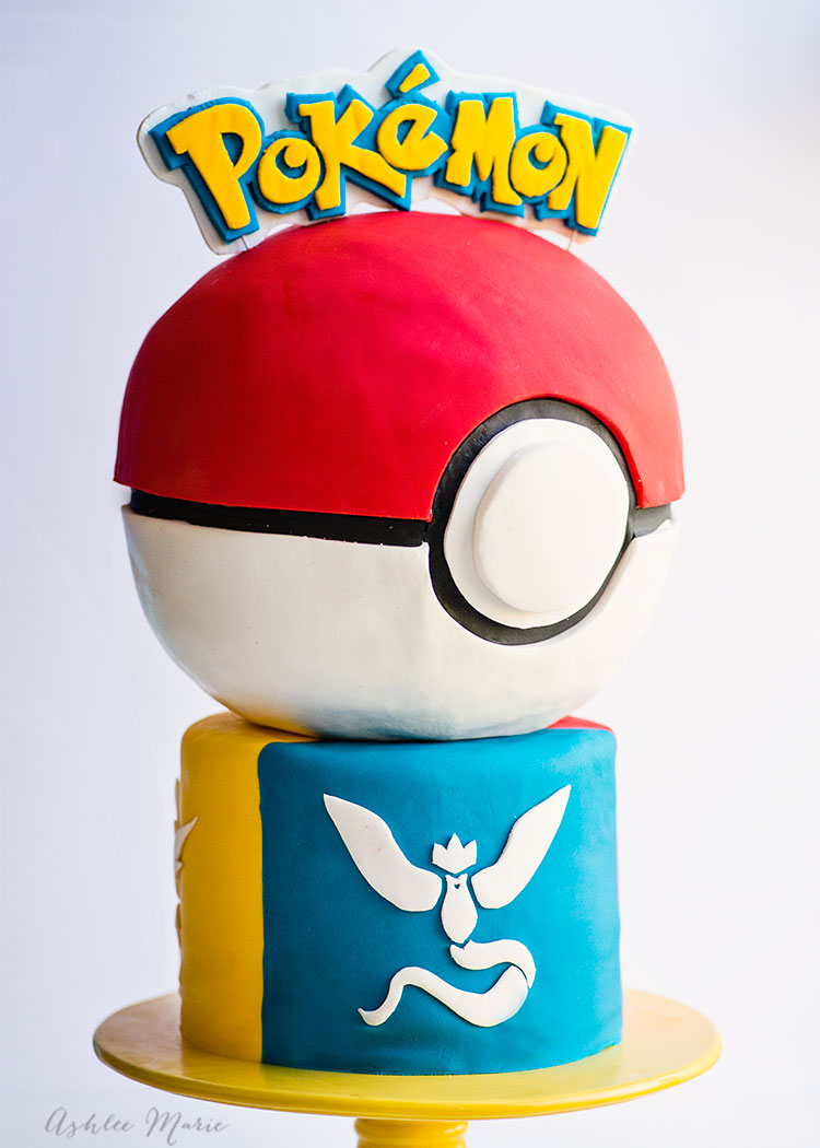 everyone loves pokemon go - here is a video tutorial for making your own pokeball cake featuring all three team logos