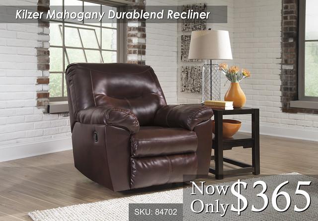 Kilzer Mahogany Recliner 84702-25