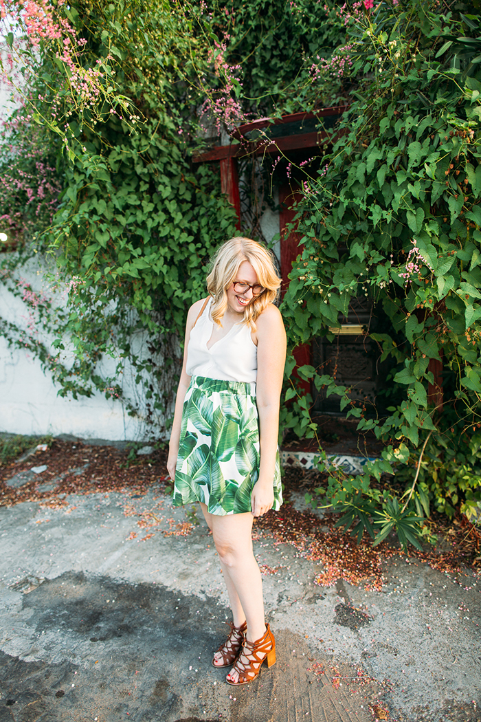 tropical leaf skirt13