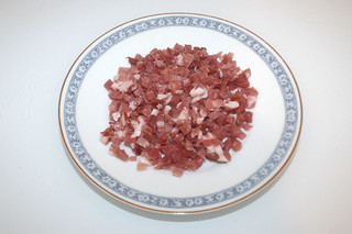 02 - Zutat gewürfelter Schinken / Ingredient diced bacon