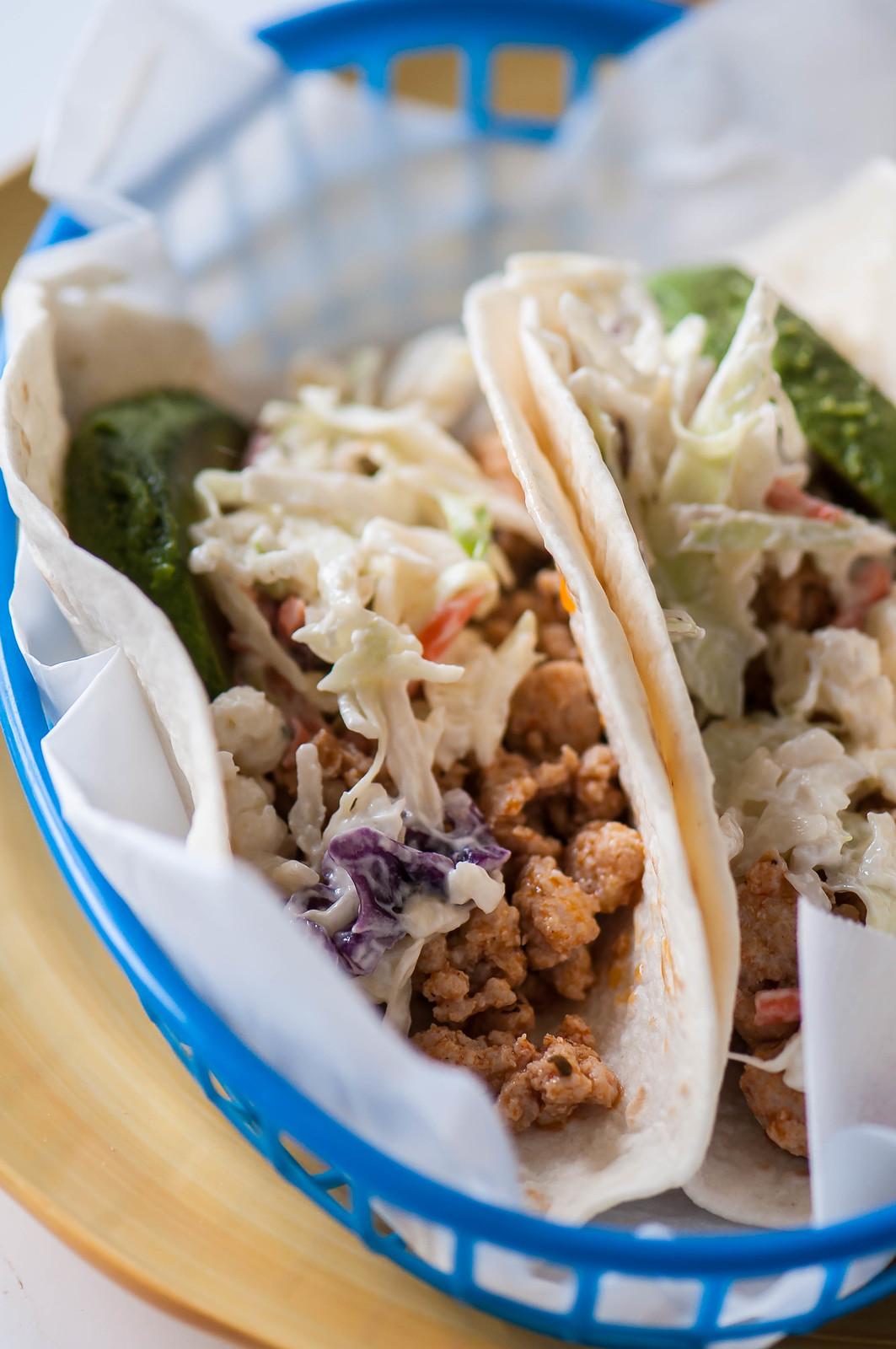 Buffalo Chicken Tacos with Bleu Cheese Slaw 3
