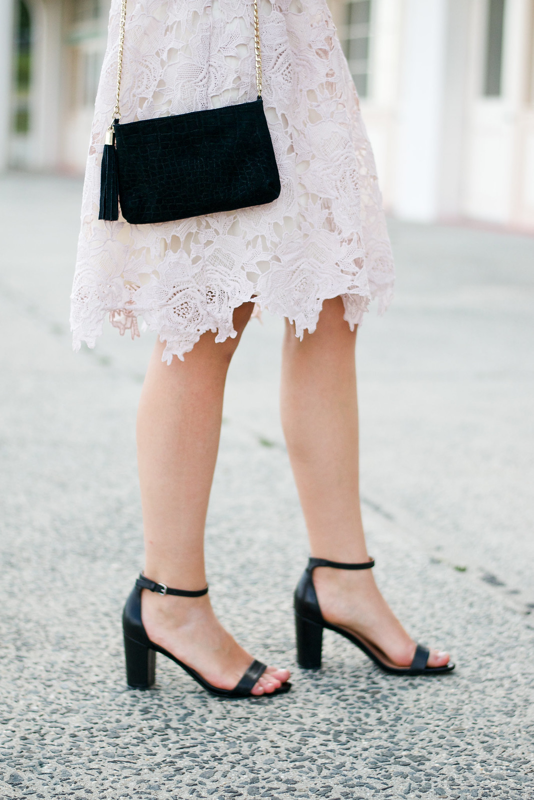 Lace Skirt Black Heels