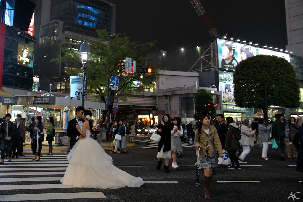Shibuya Crossing wedding
