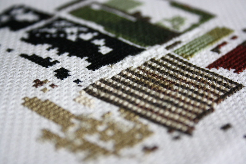 House Cross Stitch Detail