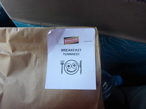 Bag with our breakfast