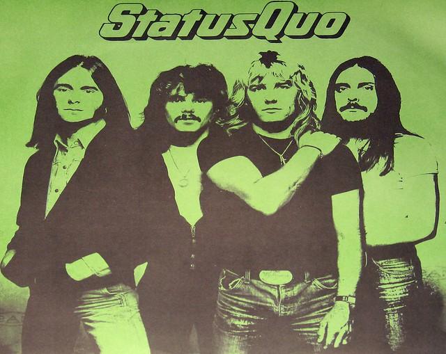 "Status Quo Rockin' All Over The World 12"" vinyl LP"