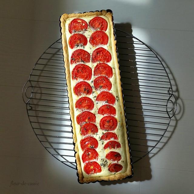 тарт с рикоттой и помидорами 1