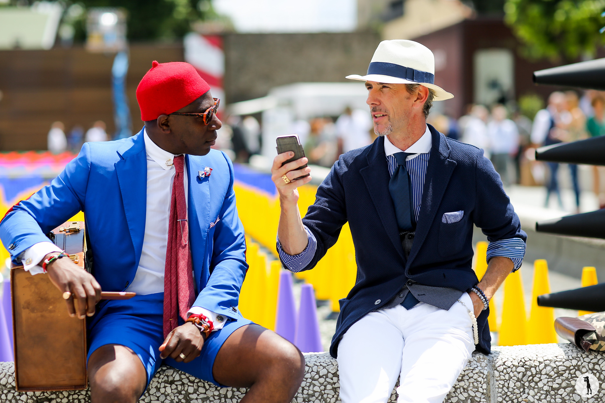 Defustel and Guillaume Bo at Pitti Uomo 88-2