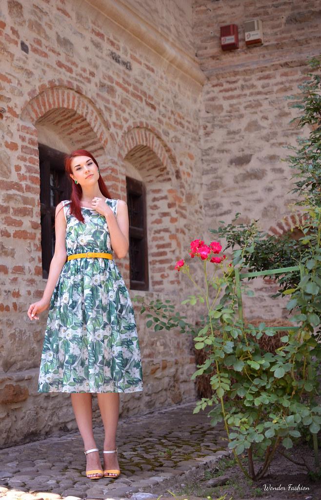 zaful rose dress3
