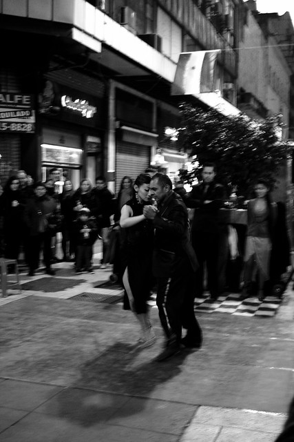 #Tango on Lavelle in Centro, #BuenosAires. I liked how a heart formed in the shadow of the two dancers #argentina
