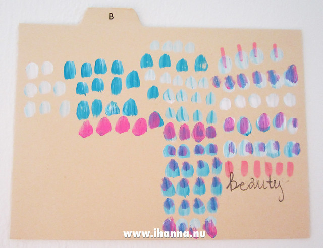 B is for Beauty (index card) painted by iHanna #icad
