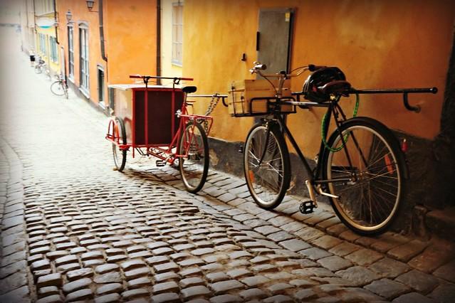 pyörät Tukholman vanhassa kaupungissa