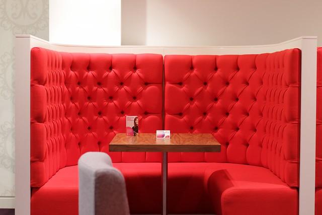 Virgin Money Lounge Sheffield - booth