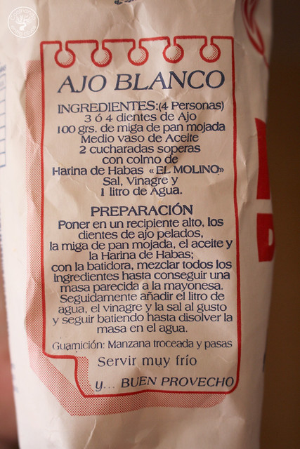 Ajoblanco de harina de habas www.cocinandoentreolivos.com