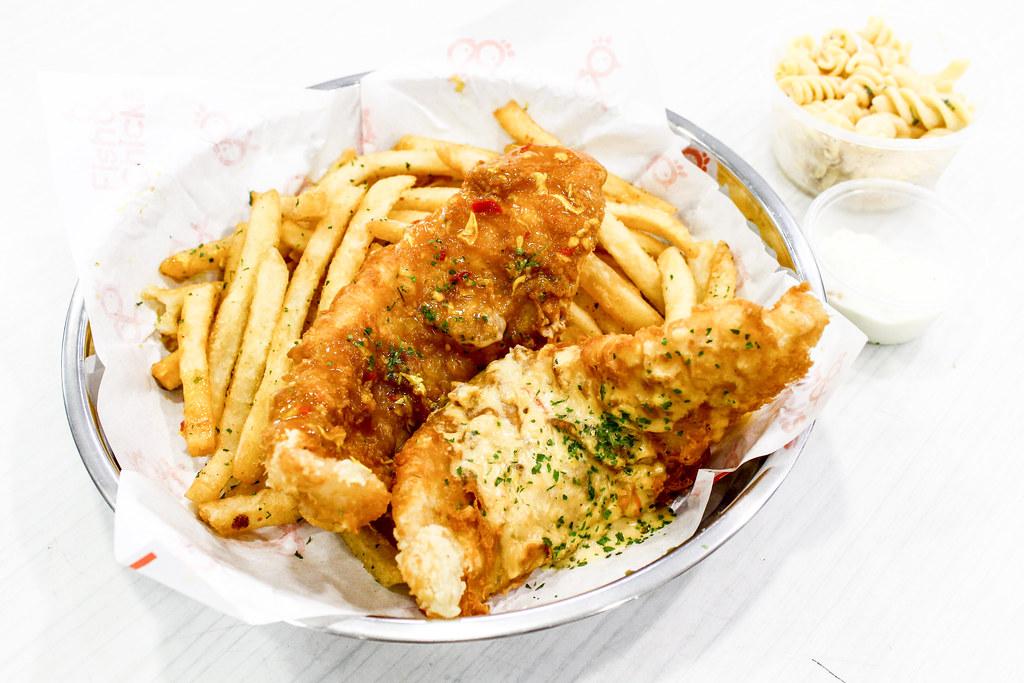 花式小贩食品:鱼鸡景观