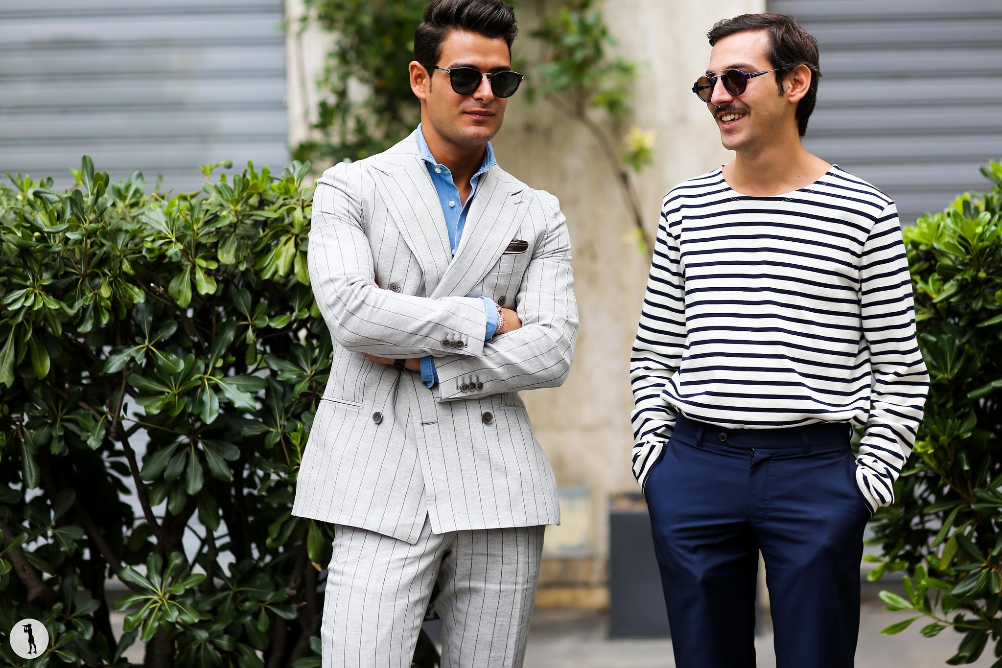 Frank Gallucci and Roberto de la Rosa at Milan Fashion Week