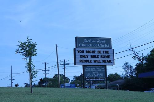 Church marquee