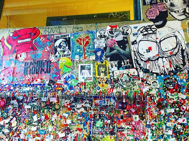 The infamous Post Alley gum wall.