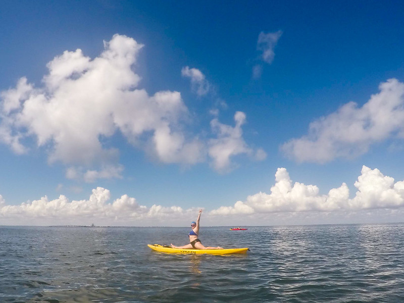 Paddleboarding on South Padre Island