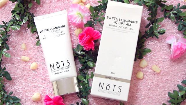 NOTS white luminaire cc cream