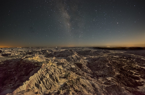 Milky Way over Lybrook Badlands