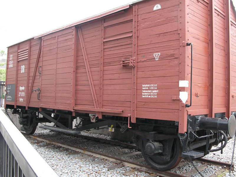 This car transported Jews during the Holocaust