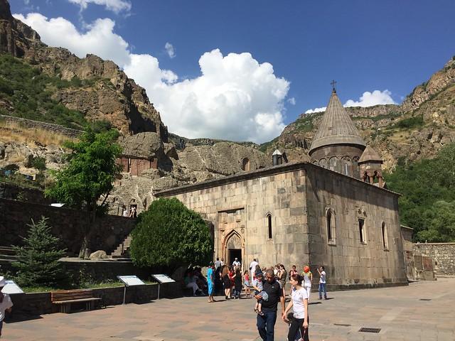 Geghard monastery outside