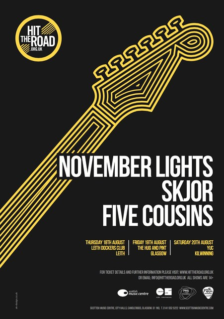 Hit The Road Tour, 18-20 August 2016, November Lights, Skjør and Five Cousins